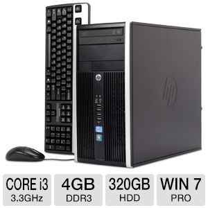 HP Compaq Core i3 320GB HDD 4GB DDR3 Desktop PC