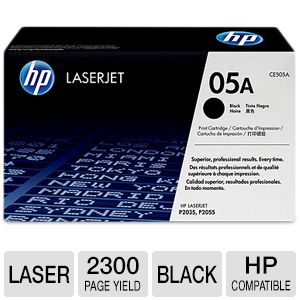 HP 05A  Black LaserJet Toner Cartridge 2.3K