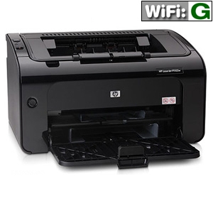 HP P1102w CE657A LaserJet Pro Black and White Printer - 400 x 600 x 2 dpi, 18 ppm, USB, 266 MHz, 8MB, WiFi