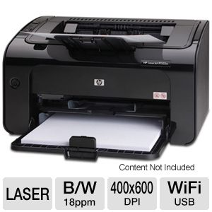 HP LaserJet Pro P1102w WiFi Printer Recertified