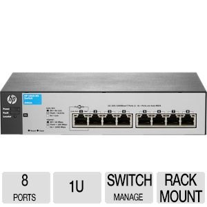 HP 1810-8G v2 Switch - J9802A#ABA