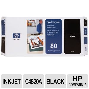 HP 80 Black Ink Cartridge for DesignJet