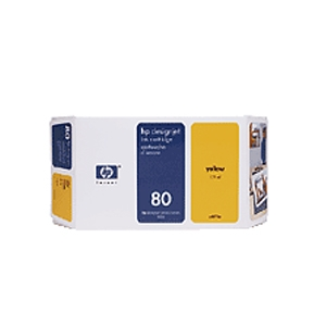 HP 80 175-ml Yellow Print Cartridge