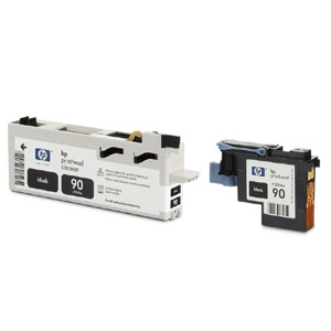 HP 90 Black Printhead and Cleaner