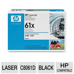 HP 61X Black Laser Ink Cartridge (2-Pack)