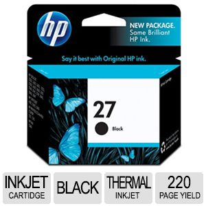 HP 27 C8727AN Black Ink - approx. 280 pages