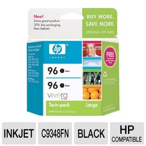 HP 96 Black 2-Pack Inkjet Cartridge