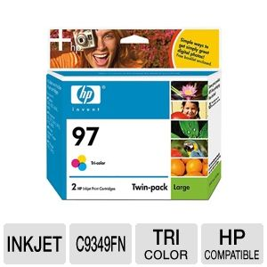 HP 97 Tri-color Inkjet Print Cartridge Twin Pack