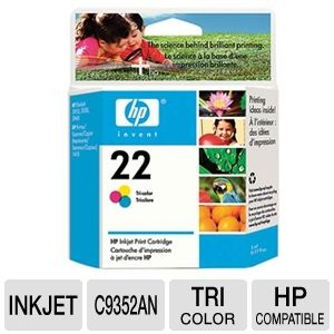 HP 22 Tri-Color Inkjet Print Cartridge