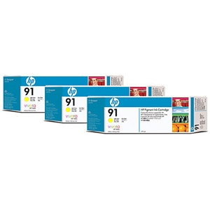 HP 91 C9485A Photo Yellow 3-Ink Multipack