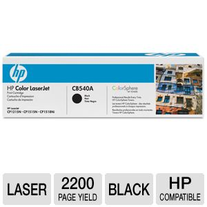 HP Color LaserJet CB540A Black Print Cartridge