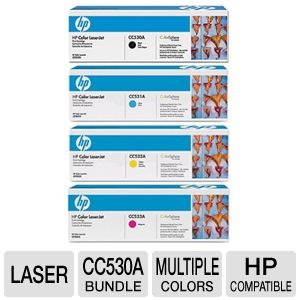 HP CP2025 Black, Cyan, Yellow, Magenta Toner