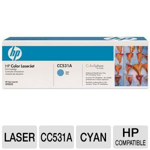 HP 304A CC531A Cyan Toner - up to 2,800 pages