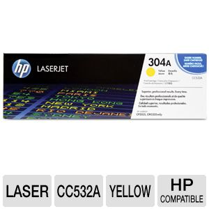 HP 304A CC532A Yellow Toner - up to 2,800 pages
