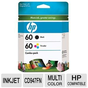 HP 60 InkJet Cartridge Combo Pack
