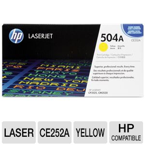 HP 504A CE252A Yellow ColorSphere Toner Cart 7K Yd