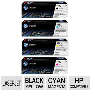 HP 128A Black, Cyan, Yellow, Magenta Toner Combo