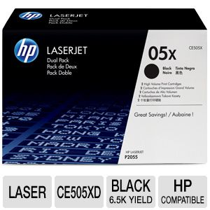HP 05X Dual Pack - toner cartridge