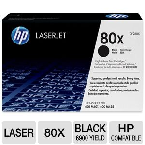 HP 80X CF280X Black LasJet Toner Cartridge 6,9K Yd