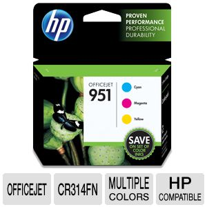 HP 951 Combo-pack C/M/Y Officejet Ink Cartridges