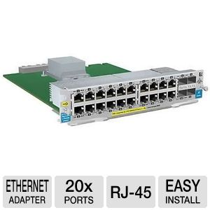 HP 20-Port  PoE+ / 4-port Mini-GBIC zl Module