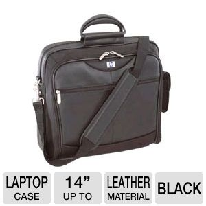 "HP 14"" Evolution Portable Leather Notebook Case"