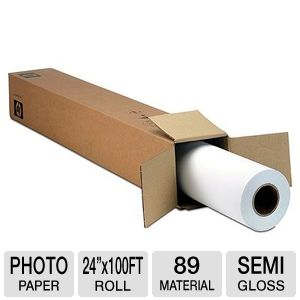 HP Q1420A Semi-Gloss Plotter Photo Paper 