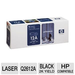 HP 12a Q2612a Black Ultraprecise Toner Cart. 2K Yd