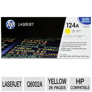 HP 124A Q6002A Yellow LaserJet Toner Cartri REFURB