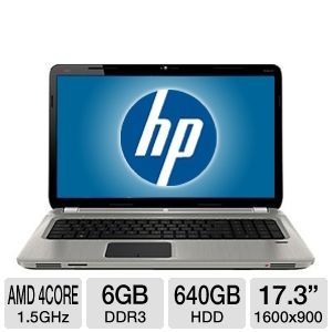 HP Pavilion 17.3&quot; AMD Quad-Core 640GB Notebook