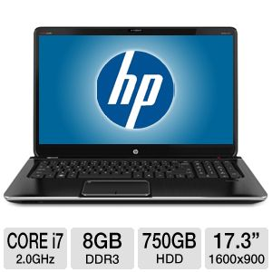 "HP Pavilion dv7 17.3"" Core i7 750GB Notebook"