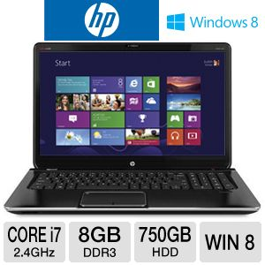 "HP ENVY dv7 17.3"" Core i7 750GB HDD Notebook"