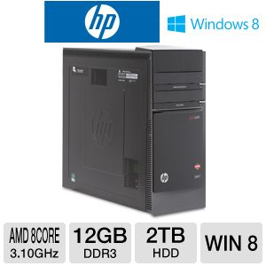 HP Envy AMD FX 2TB HDD 12GB DDR3 Desktop PC