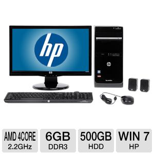 "HP 20"" AMD A6 500GB HDD 6GB DDR3 Desktop PC"