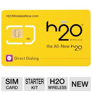 H2O Wireless SIM Starter Kit SIM Card