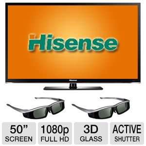 "Hisense 50"" Class 1080p 120Hz LED 3D Smart  Bundle"