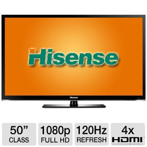 "Hisense 50"" Class 1080p 120Hz LED 3D Smart HDTV"