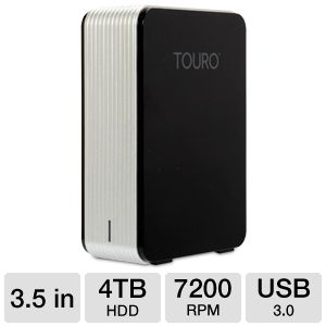Hitachi Touro Desk Pro 4TB External Hard Drive