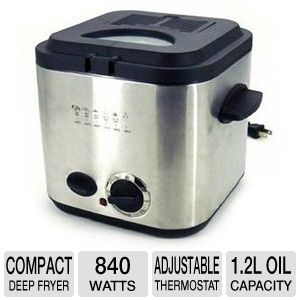 Home Image 840W Compact Deep Fryer