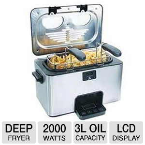 Home Image 3L Stainless Steel Deep Fryer