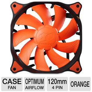 Cougar Vortex PWM 120mm Case Fan in Orange