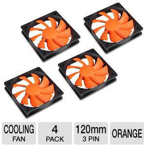 Cougar Turbine 120mm 4 Pack Case Fan in Orange
