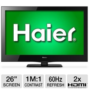 "Haier 26"" LE26B13200 720p 60Hz LED HDTV"
