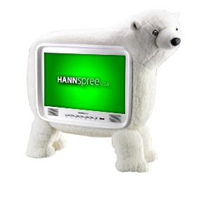 Hannspree ST19PMUW 19&quot; Polar Bear LCD HDTV