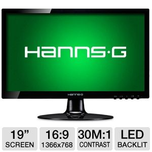 "HannsG HL190ABB 19"" Class Widescreen LED Monitor"