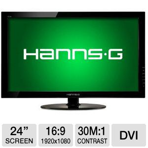 "HannsG 24"" Wide 1080p LED Monitor, VGA, DVI"