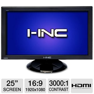 "I-Inc 25"" Widescreen HD LCD Monitor w/HDMI"