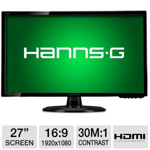 "HannsG 27"" Class Widescreen LED Monitor"