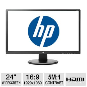 "HP 24"" LED Backlit Monitor - HDMI, 5ms"