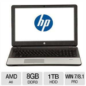 HP AMD A6, 8GB DDR3, 1TB HDD, Windows 7 Pro/Windows 8 Laptop